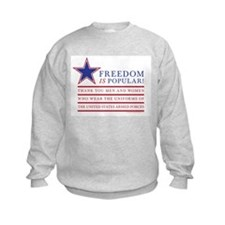 Funny Military thank you Sweatshirt