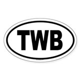 TWB Oval Decal