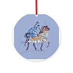 Sapphire & Ivory Ornament (Round)