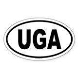 UGA Oval Decal