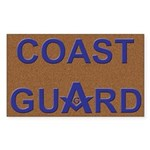 Masons Coast Guard Rectangle Sticker