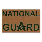 Masons National Guard Rectangle Sticker