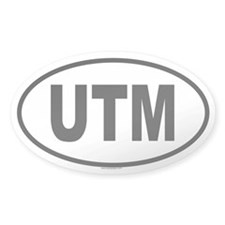 UTM Oval Decal