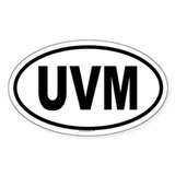 UVM Oval Decal