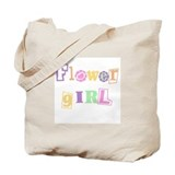 Cool Text Flower Girl Tote Bag