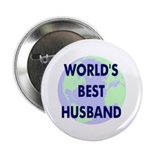 "World's Best Husband 2.25"" Button (100 pack)"