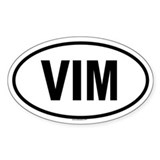 VIM Oval Decal