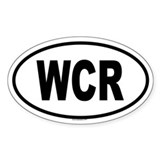 WCR Oval Decal