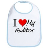 I Heart My Auditor Bib