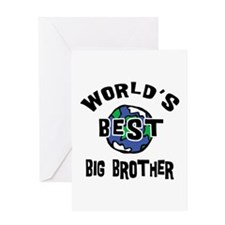 World's Best Big Brother Greeting Card
