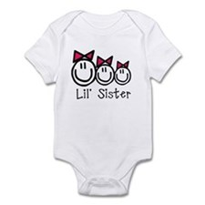Lil' Sister of Three (Girls) Onesie