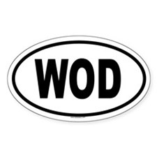 WOD Oval Decal