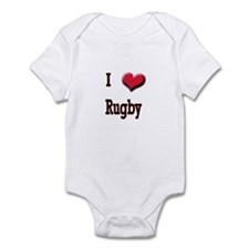 I Love (Heart) Rugby Infant Bodysuit