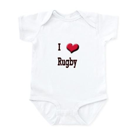 I Love (Heart) Rugby Infant Bodysuit