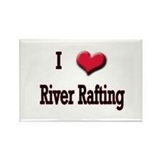 I Love (Heart) River Rafting Rectangle Magnet (10