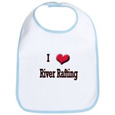 I Love (Heart) River Rafting Bib
