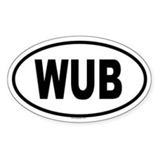 WUB Oval Decal