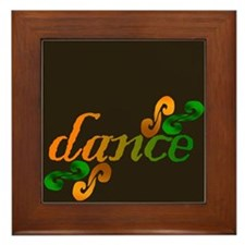 Dance Swirls Framed Tile