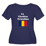 #1 Chadian Grandma Women's Plus Size Scoop Neck Da