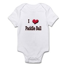 I Love (Heart) Paddle Ball Infant Bodysuit
