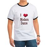 I Love (Heart) Modern Dance Ringer T