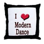 I Love (Heart) Modern Dance Throw Pillow