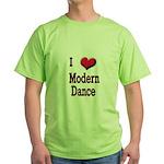 I Love (Heart) Modern Dance Green T-Shirt
