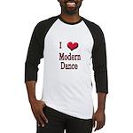 I Love (Heart) Modern Dance Baseball Jersey