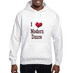 I Love (Heart) Modern Dance Hooded Sweatshirt