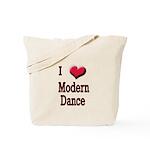 I Love (Heart) Modern Dance Tote Bag