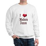 I Love (Heart) Modern Dance Sweatshirt