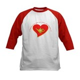 Nursing is the Light and Heart Kid Baseball Jersey