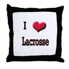 I Love (Heart) Lacrosse Throw Pillow