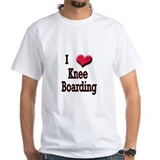 I Love (Heart) Knee Boarding Shirt