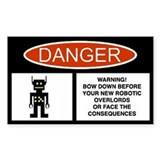 Robot Danger Decal
