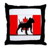 canadian pit bull design 2 Throw Pillow