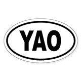 YAO Oval Decal