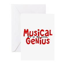 Musical Genuis Genes Greeting Cards (Pk of 10)