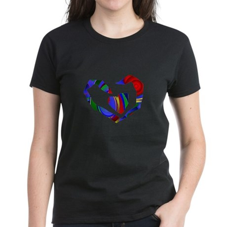 Abstract Heart Women's Dark T-Shirt