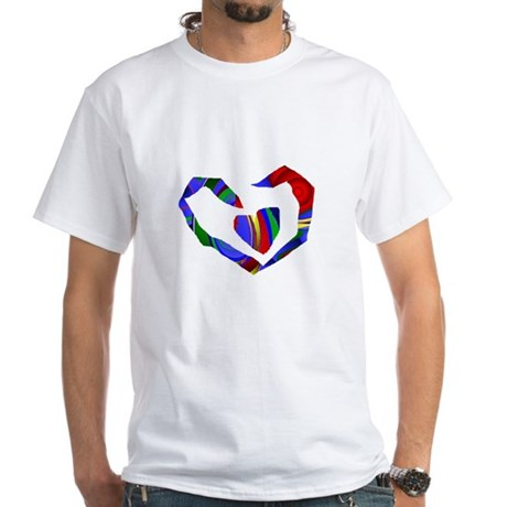 Abstract Heart White T-Shirt