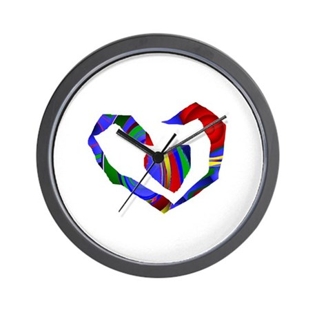 Abstract Heart Wall Clock