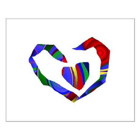 Abstract Heart Small Poster