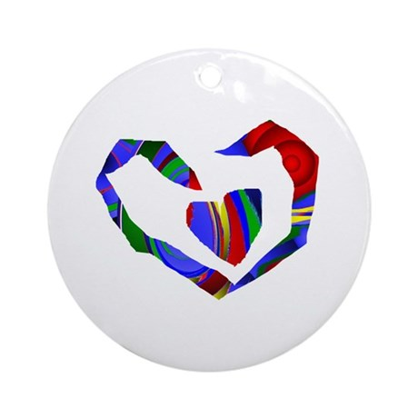 Abstract Heart Ornament (Round)