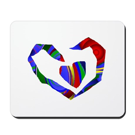 Abstract Heart Mousepad