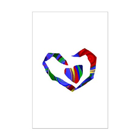 Abstract Heart Mini Poster Print
