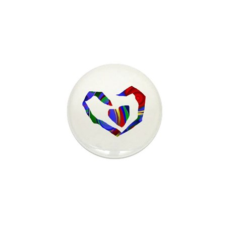 Abstract Heart Mini Button