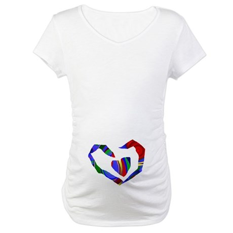 Abstract Heart Maternity T-Shirt