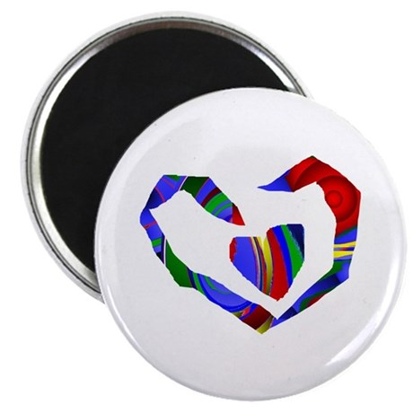"Abstract Heart 2.25"" Magnet (10 pack)"
