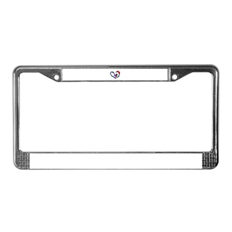 Abstract Heart License Plate Frame