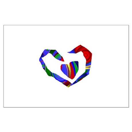 Abstract Heart Large Poster